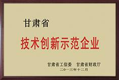 甘肃省技术创新示范企业